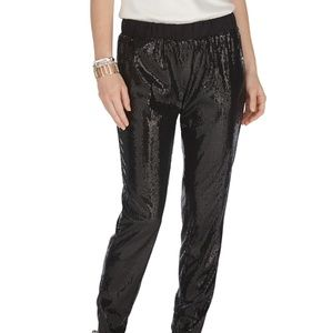 WHBM Sequin Black Taper Pants Size XXS